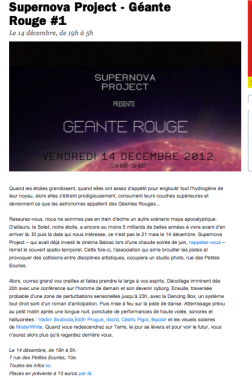 time out supernova géante rouge